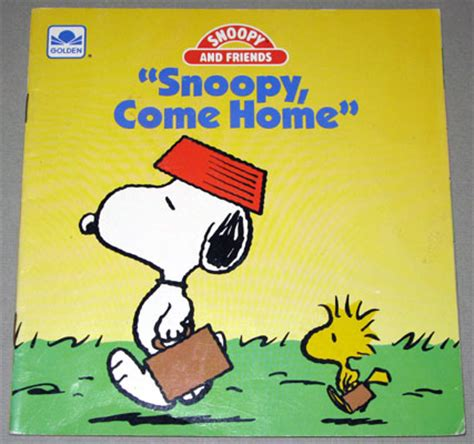 snoopy come home book collectpeanuts
