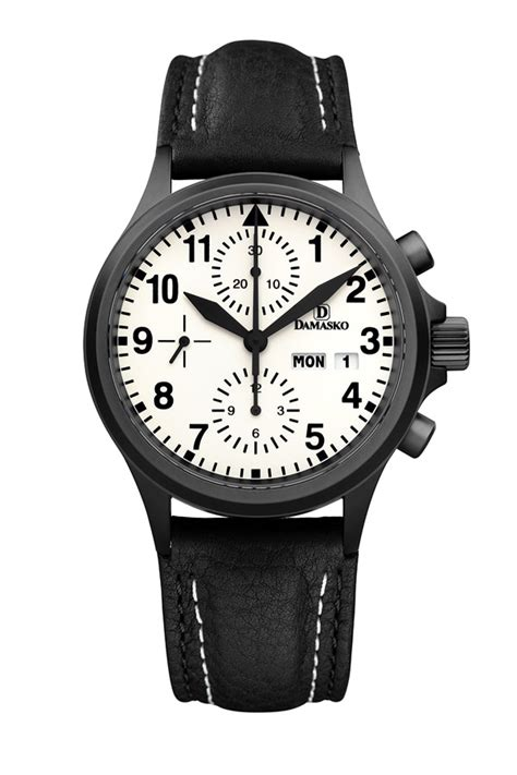 damasko dc57 black automatic chronograph damasko