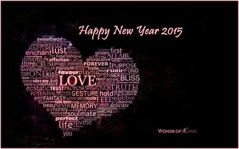 love words happy new year 2015 heart quotes wallpaper