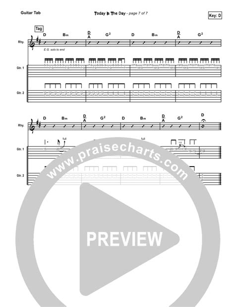 today is the day lincoln brewster today is the day guitar tab lincoln brewster praisecharts