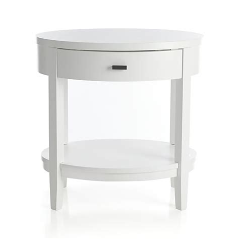 White Nightstand Arch White Oval Nightstand In Arch White Beds Crate And
