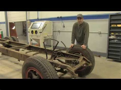 tacoma company blast cabinet upgrade automotive frame sandblasting