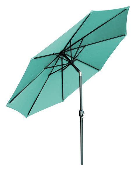 Teal Patio Umbrella 10 Tilt With Crank Patio Umbrella By Trademark Innovations Teal