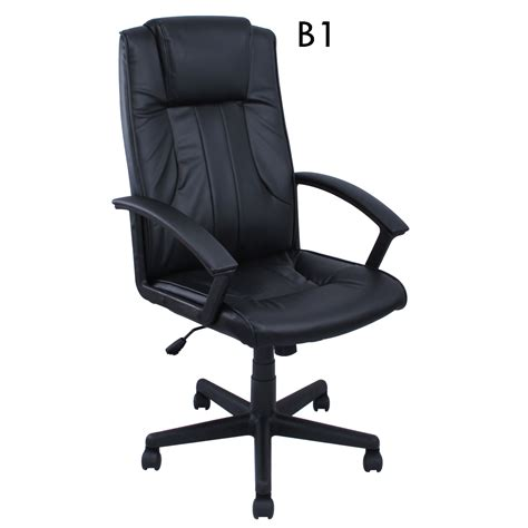 High Back Pu Leather Executive Ergonomic Office Chair Desk Office Chair For High Desk