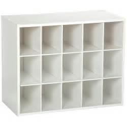 Closetmaid Shoe 15 Cubby Stackable Shoe Rack Organizer Shelves In White
