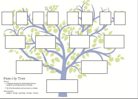 decorative family tree template family history let s get visual lds blogs