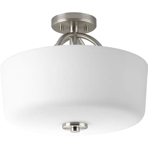 calven collection brushed nickel 3 light semi flushmount 7