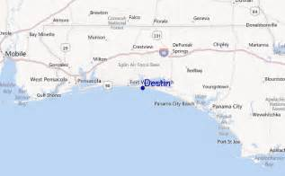 where is destin florida on the map destin surf forecast and surf reports florida gulf usa
