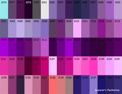 shades of purple color violent violet pashmina color chart pinterest colors