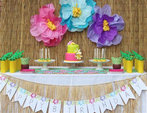 hawaii birthday quot julieta s hawaiian 2nd birthday party