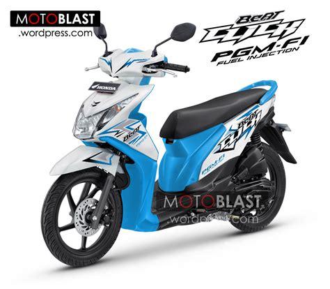 galeri modifikasi motor honda beat terbaru 2014 inikah penakan honda beat fi click 2014 motoblast