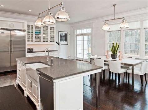White Modern Kitchen Table White Kitchen With Dark Wood White Kitchens With Floors