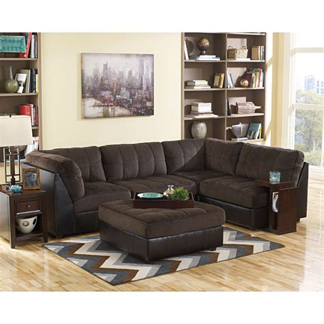 rent to own hobokin sectional sofa in chocolate