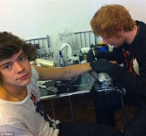 Tattoo Ed Sheeran Gave Harry Styles | ed sheeran tattoos inked magazine inked magazine