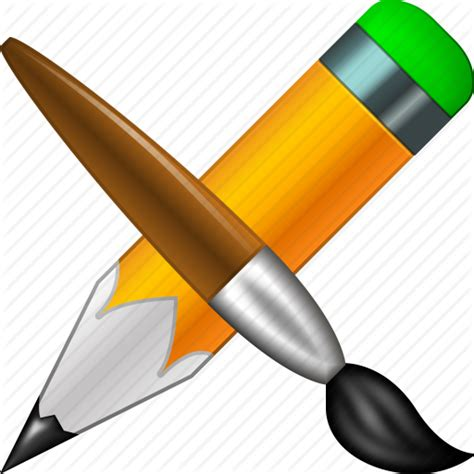 design icon with sketch brush bucket designs draw graphic design paint tools