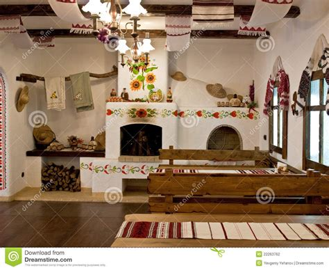 Kitchen Russian by The Kitchen In The Slavic Style Stock Photography