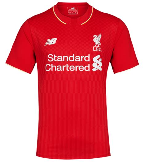 Tshirt T Shirt Liverpool Exclusive revealed lfc s new 2015 16 home kit liverpool fc