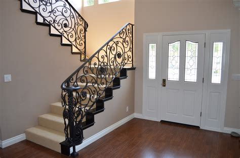Interior swirly wrought iron staircase design decorative staircase as dramatic accent