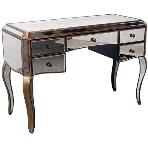 beautiful mirrored vanity home office desk 48 5