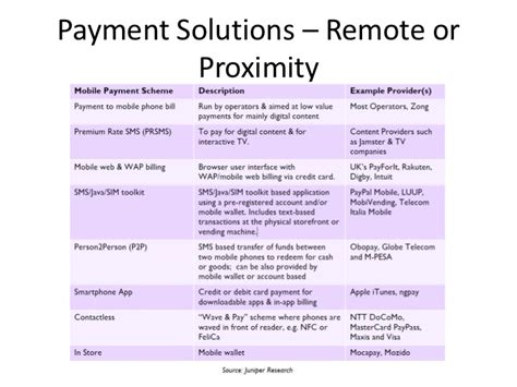mobile remote payment mobile payments framework