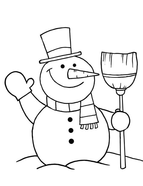 Coloring Page Of Snowman free printable snowman coloring pages for