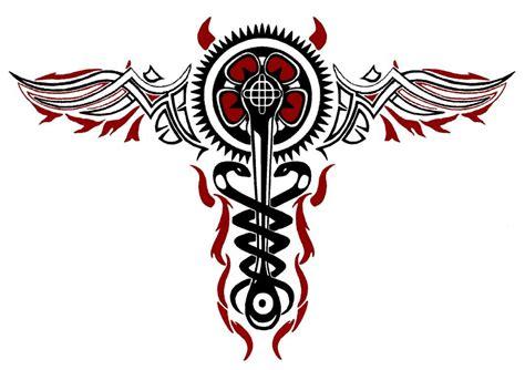 infamous tattoos cadeuces tattoos infamous 2 cole macgrath evil caduceus