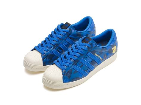 adidas bape adidas x undftd x bape superstar 80v blue the sole supplier