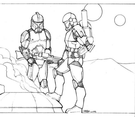 republic commando coloring pages clonetroopers chillin by mikedimayuga on deviantart