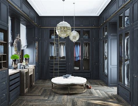 dressing room designs in the home neoclassical and art deco features in two luxurious interiors