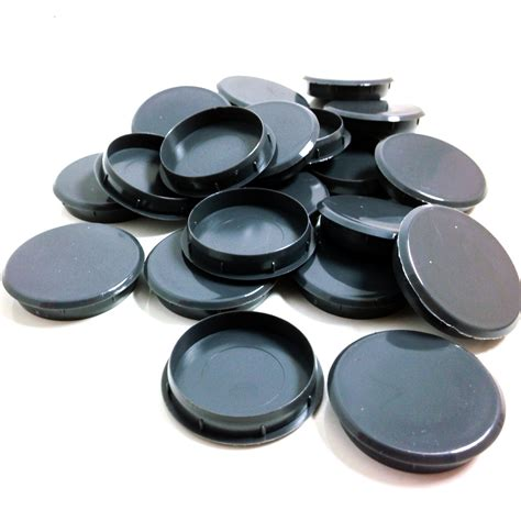 Kitchen Cabinet Hole Plugs | 35mm gloss grey plastic hinge hole cover caps for kitchen