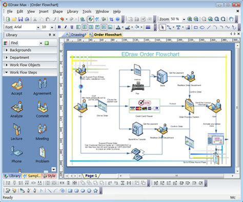 free software like visio edraw max is a visio like diagramming sofatware with rich