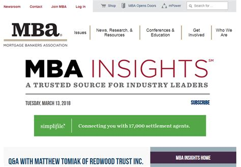 Mba Newslink by Relations Mortgage Relations Marketing