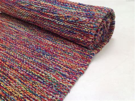Soft Washable Cotton Rug In Multi Colours Sn2050 Washable Rugs