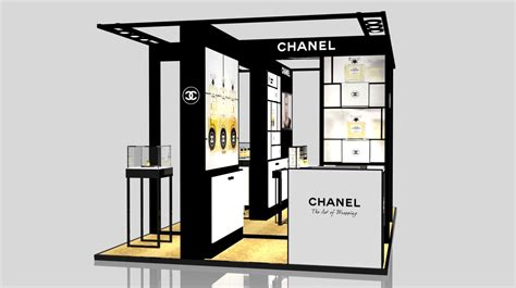 Chanel Stand exhibition stand of chanel in gum 3d model sldprt sldasm