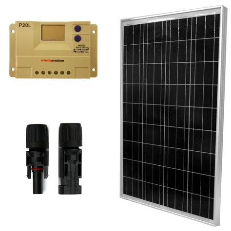12 volt solar boat battery charger 100 watt 12 volt solar panel and charge controller
