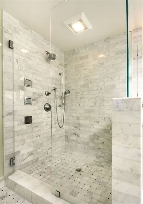Glass Shower Half Wall by Glasses Tile And Master Bathrooms On