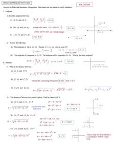 math plane midpoint and distance