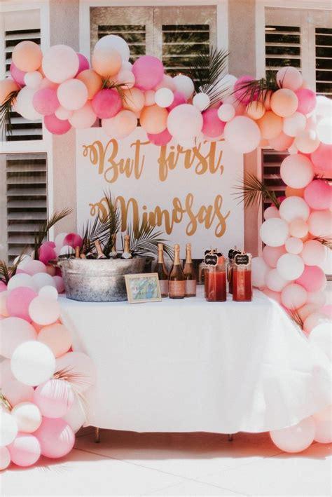 mimosa bar set up for a bridal shower bridal shower ideas bridal showers - Early Bridal Shower Ideas