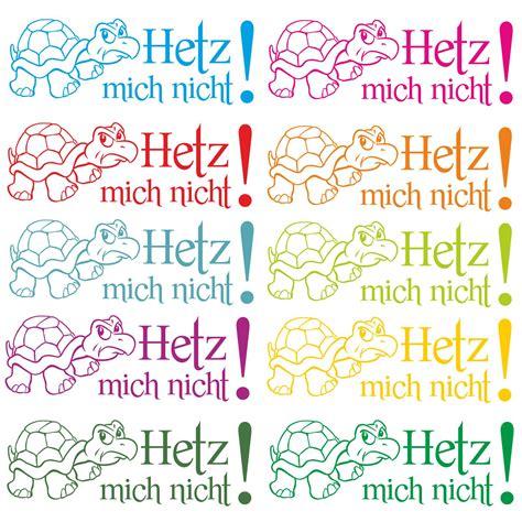Aufkleber Fürs Auto Hetz Mich Nicht by Hetz Mich Nicht Autoaufkleber Turtle Schildkr 246 Te Sticker