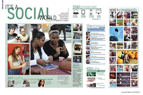 teaching yearbook layout design i like how it talks about all the social media things