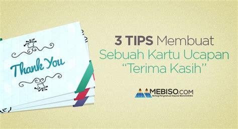 tips membuat sebuah kartu ucapan terima kasih media