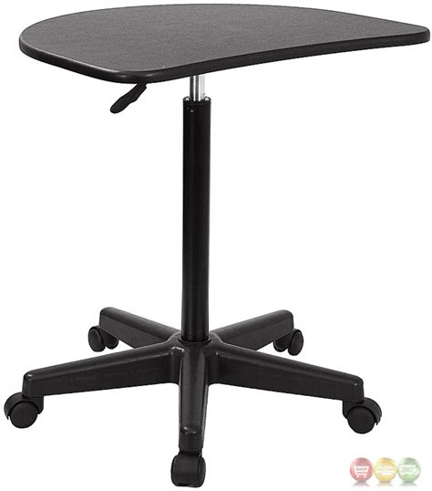 Height Adjustable Mobile Laptop Computer Desk With Black Adjustable Mobile Laptop Desk