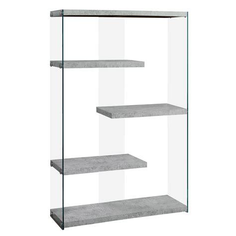 glass shelves bookcase vegas wide modern bookcase w open floating shelves small bookshelf