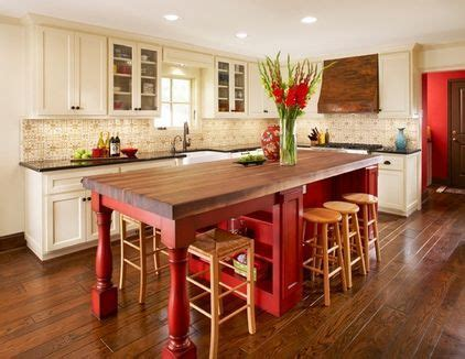 kitchen island red traditional kitchen by dallas renovation group center