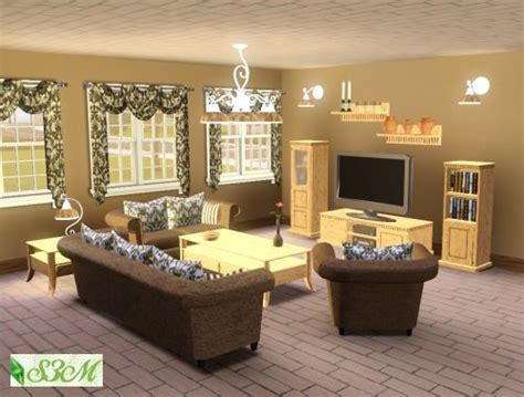 my sims 3 isny living room set by simmami