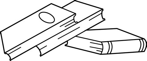 Stack Of Books Coloring Page Free Clip Art Book Coloring Page