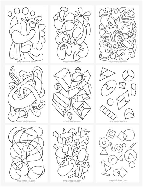 Abstract Coloring Pages Printable by Abstract Coloring Pages For Mr Printables