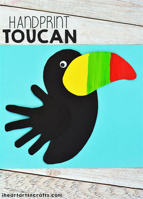 toucan craft for handprint toucan craft for toucan craft rainforest