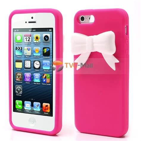 3d Bowknot For Iphone 3d bowknot soft silicone for iphone 5 5s