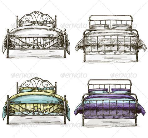 bed sketch set of sketch beds by kamenuka graphicriver